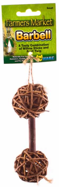 Ware Willow Barbell Small Animal Chew Toy