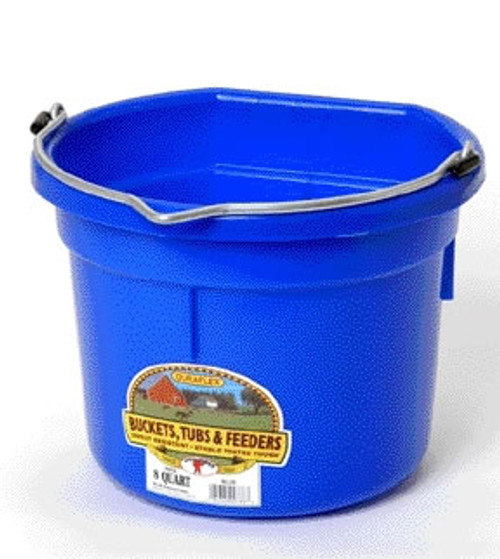 Duraflex 8 Quart, Black Flat Blue Bucket