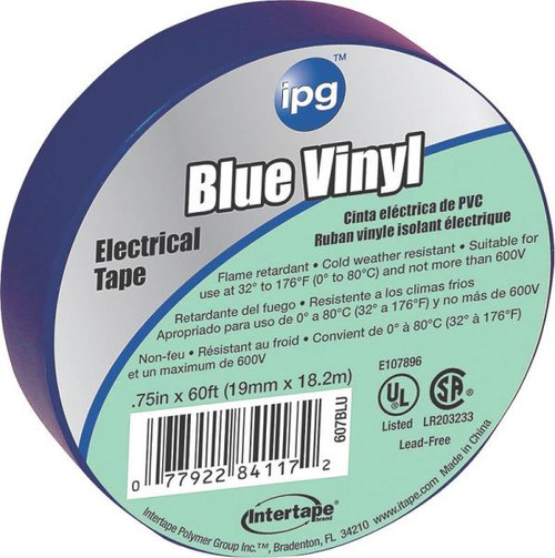 "3M Temflex Blue Electrical Tape, 3/4"" x 60'"
