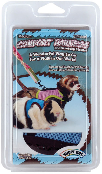 Comfort Harness With Stretchy Leash, Medium