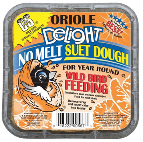 C&S No Melt Oriole Delight Suet Cake