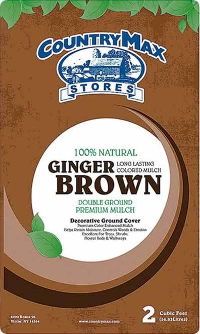 Ginger Brown Premium Hardwood Mulch, 2 Cu. Ft.