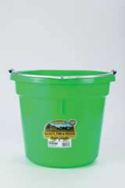 Duraflex 20 Quart, Lime Flat Back Bucket