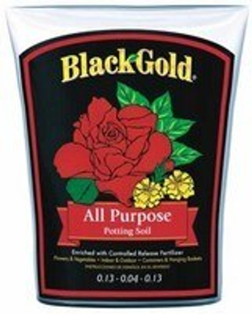Black Gold All Purpose Potting Soil with CRF 8 Quarts