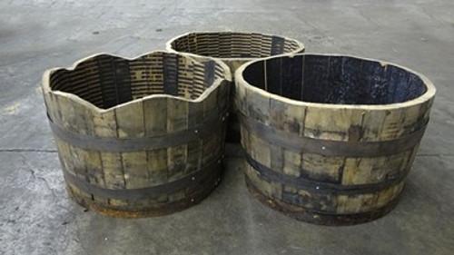 Authentic Whiskey Half Barrel Planter