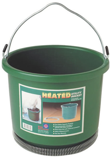 Heated Utility Bucket, 2 Gallon