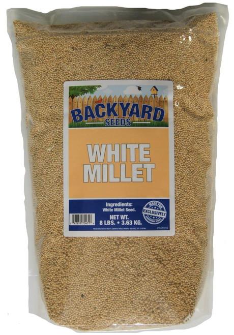 Backyard Seeds White Millet 8 Pounds