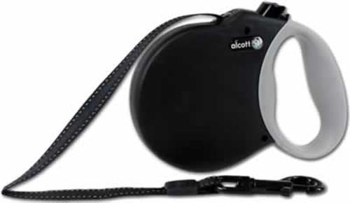 Alcott Retractable Black Dog Leash