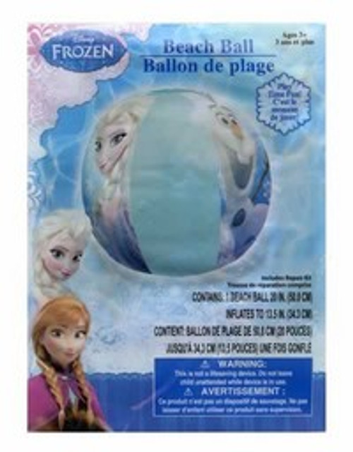 Disney Frozen Elsa, Anna and Olaf Inflatable Beach Ball Pool Toy 20""