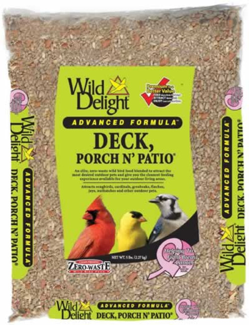 Wild Delight Deck, Porch N' Patio Bird Seed, 20 Lb.