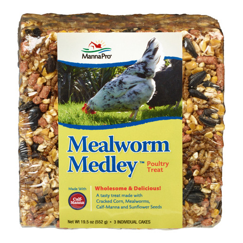 Manna Pro Mealworm Medley Poultry Treat Cake