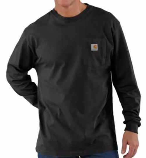 Carhartt Long Sleeve Workwear Black Pocket T-Shirt