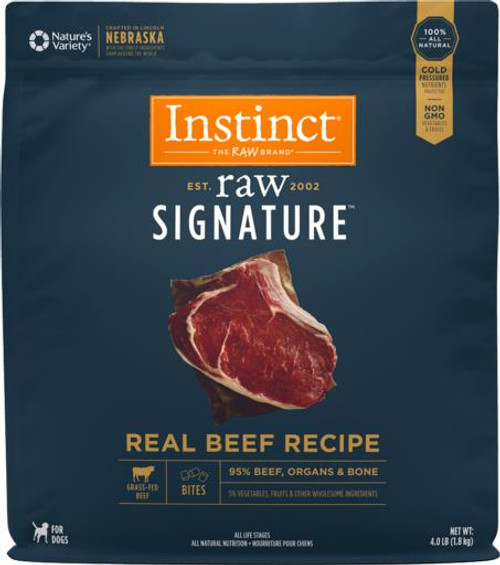Nature's Variety Instinct Raw Bites Beef Formula Raw Frozen Dog Food