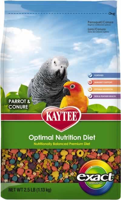 Kaytee Exact Rainbow Parrot/Conure Food, 2.5 Pound