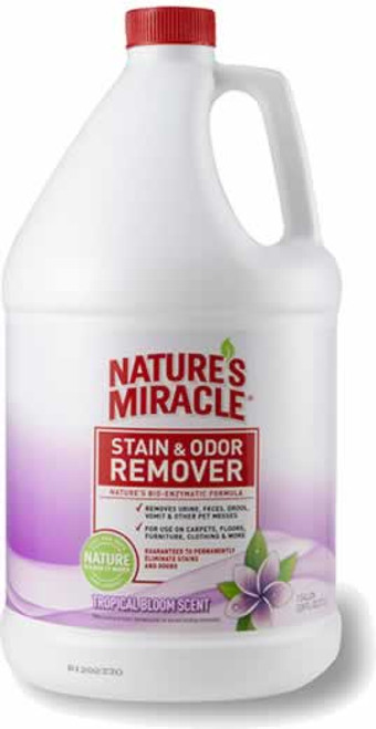 Nature's Miracle Tropical Bloom Scented Pet Stain & Odor Remover 1 Gallon