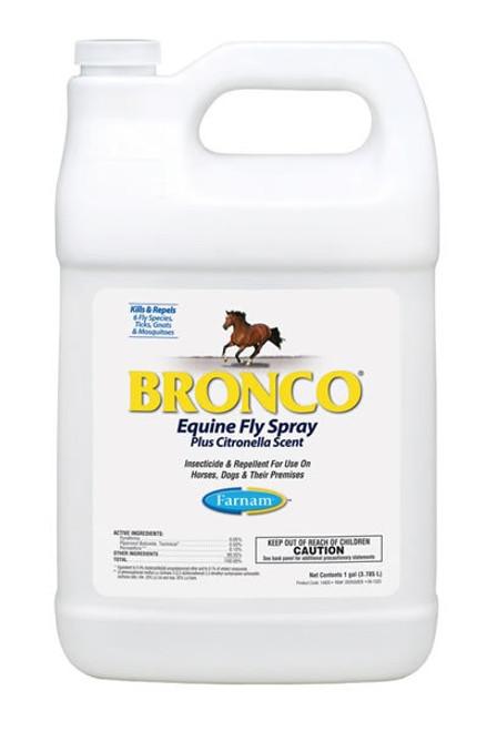 Farnam Bronco Equine Fly Spray Plus Citronella Scent, Gallon