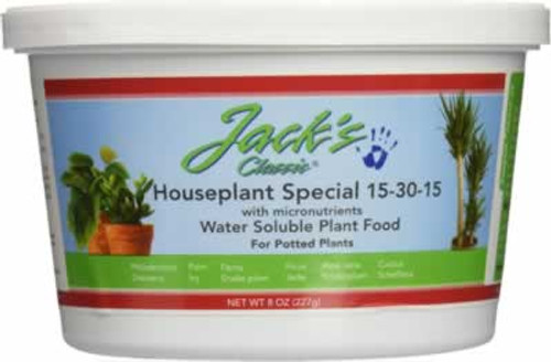 Jacks Classic Houseplant Special 15-30-15 Water Soluble Plant Fertilizer