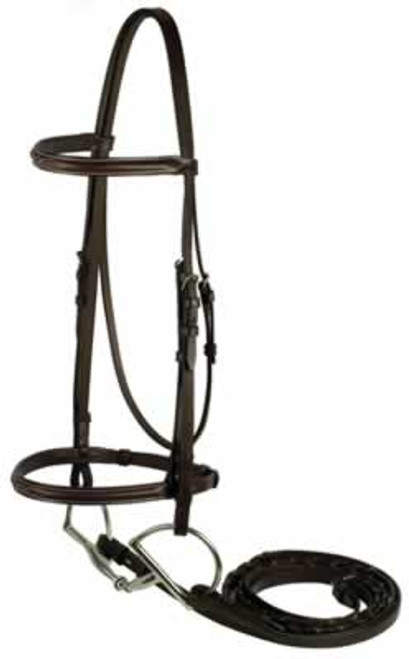 Gatsby Brown Fancy Snaffle Bridle, Horse