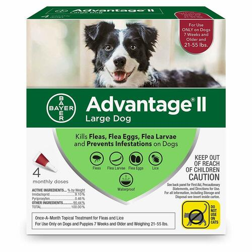 Advantage II Topical Flea Treatment for Dogs and Puppies, 21-55 Lbs.