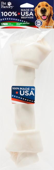 "Pet Factory 11-12"" USA Rawhide Bone"