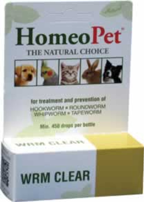 HomeoPet WRM Clear Natural Pet Relief