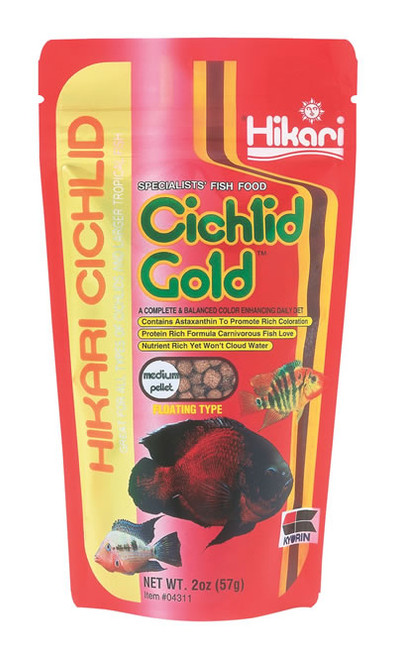 Hikari Cichlid Gold Medium, 2 Ounce