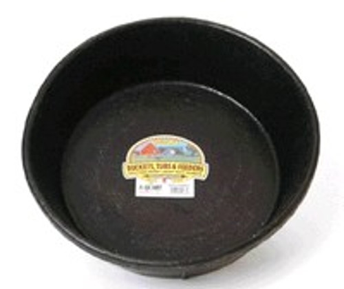 Rubber Feed Pan, 8 Quart, Black