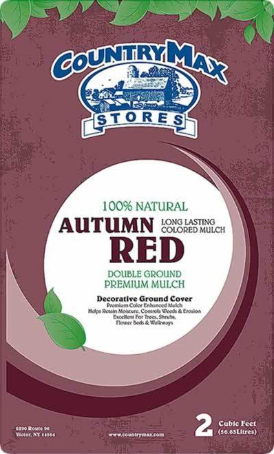 Autumn Red Premium Hardwood Mulch, 2 Cu. Ft.