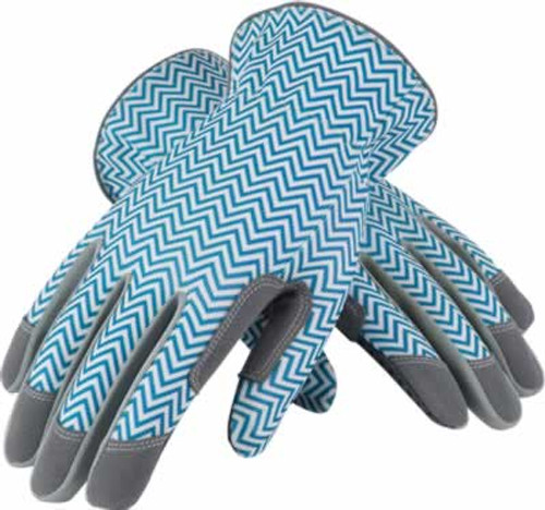 Mud Zig Zag Teal & White Gardening Gloves