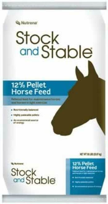 Nutrena Stock & Stable Pellet 12% Horse Feed