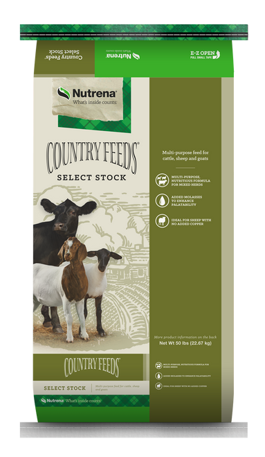 Nutrena Country Feeds Select Stock 16% Textured Feed, 50 Lbs.