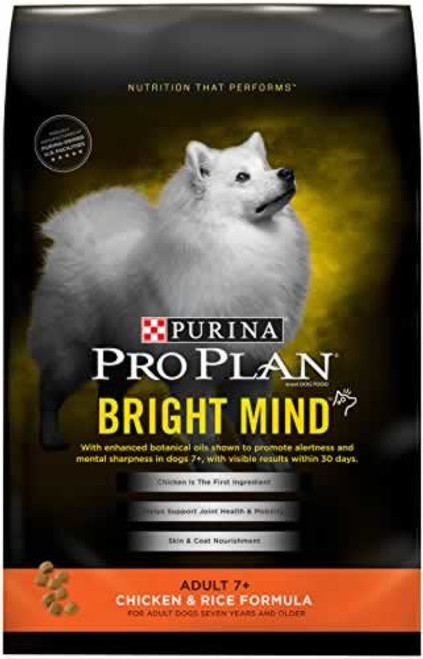 Pro Plan Bright Mind Chicken & Rice 7+ Dog Food 34 Lb.