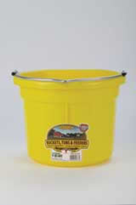Duraflex 8 Quart, Yellow Flat Back Bucket