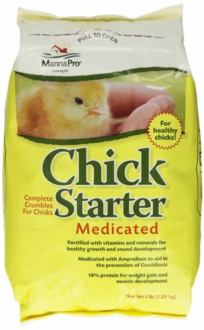 Manna Pro Medicated Chick Starter 5 LB
