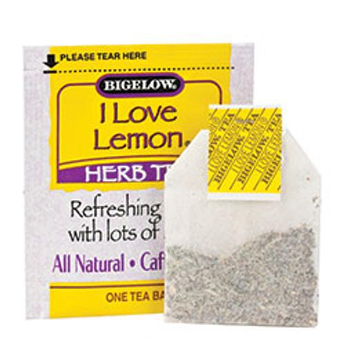 Bigelow I Love Lemon Herbal Tea 28 Count