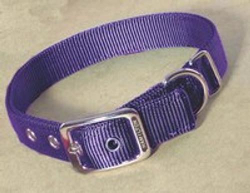 Hamilton Double Thick Deluxe Purple Nylon Buckle Collar 1 x 24 Inch