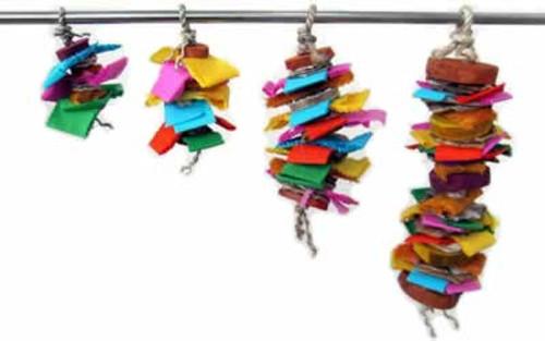 A&E Color Splash Hanging Bird Toy, Medium