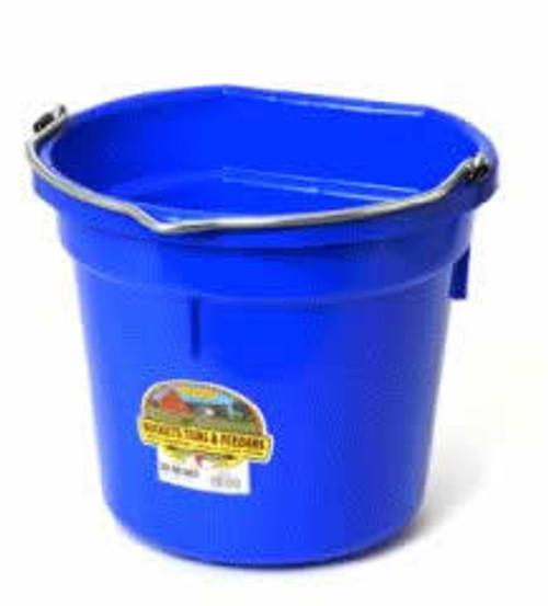 Duraflex 20 Quart, Blue Flat Back Bucket