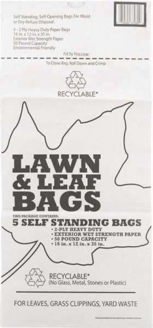 Lawn & Leaf Bags Self Standing Yard Cleanup