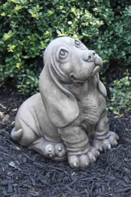 Massarelli Basset Hound Puppy Garden Statue