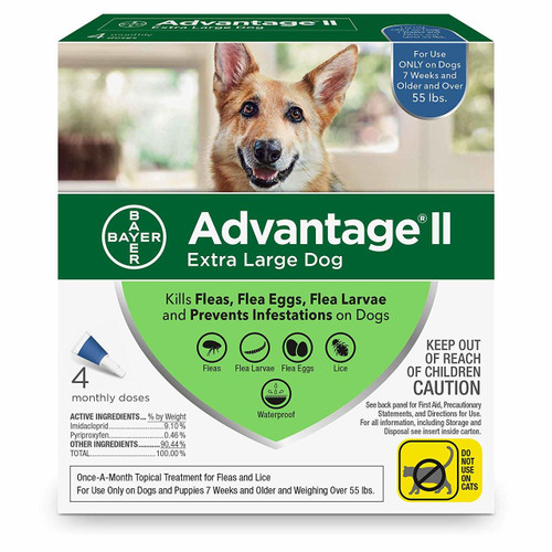 Advantage II Topical Flea Treatment for Dogs and Puppies, Over 55 Lbs