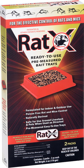 RatX Ready to Use Trays Rat and Mouse Killer 2 Pack