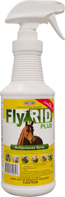 Durvet Fly Rid Plus Insecticide Spot on Spray for Horses
