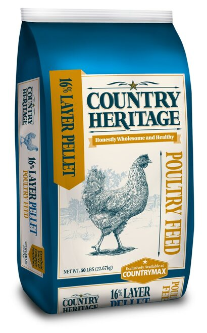 Country Heritage Egg Layer Pellet 16% Chicken Feed 50 Pounds