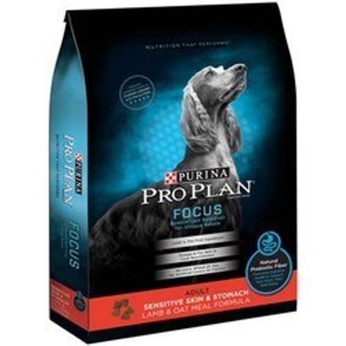 Purina Pro Plan Focus Adult Sensitive Skin & Stomach Lamb & Oatmeal Dog Food 18 Pounds