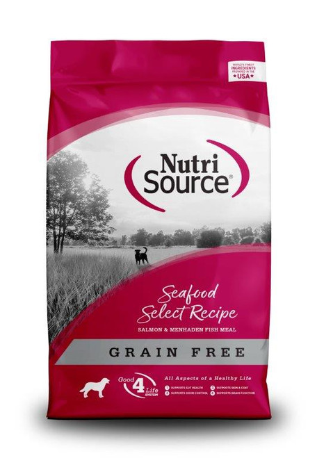 NutriSource Small Breed Seafood Select Salmon Grain Free Dog Food 30 Pounds