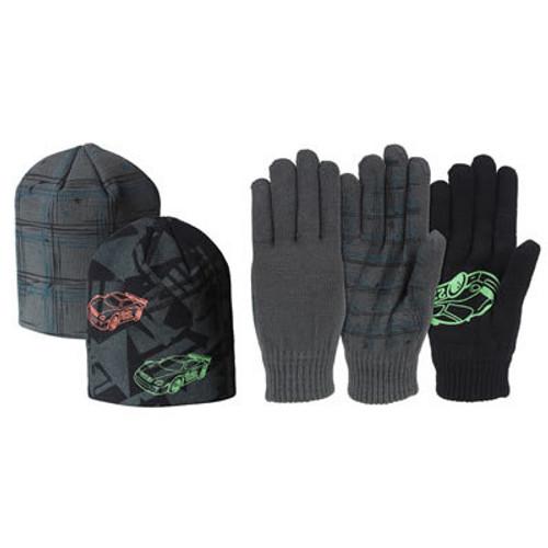 Huntworth Boys Acrylic Hat and Glove Set