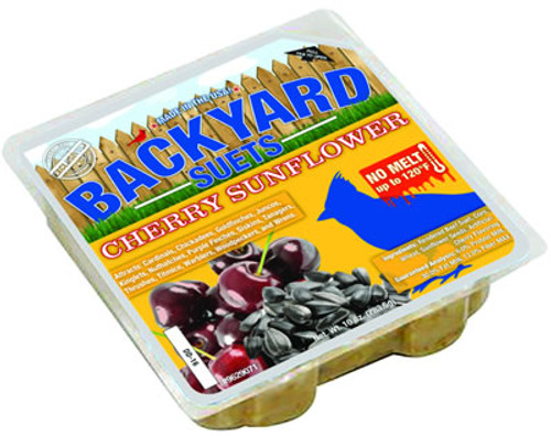 Backyard Seeds Cherry Sunflower Suet Cake, 10 oz