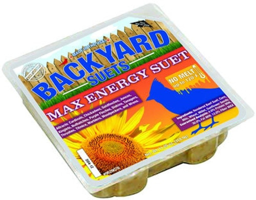Backyard Seeds Max Energy Suet Cake, 11.25 oz