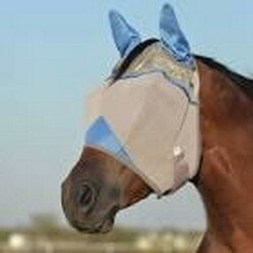 Crusader Blue Fly Mask Arab/Cob With Ears